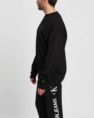 Calvin Klein Jeans - Washed Instit Crewneck Sweats (CK Black)
