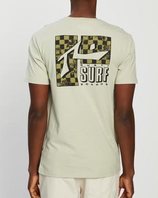 Rusty Eco Warrior Short Sleeve Tee - T-Shirts & Singlets (Beige Fog)