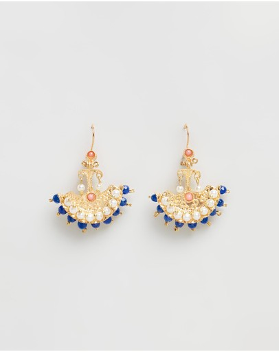 Bianc Florence Earrings Sterling Silver & Gold-plated Brass