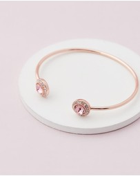 Mestige - Rose Gold Ayla Bangle with Pink Swarovski® Crystals