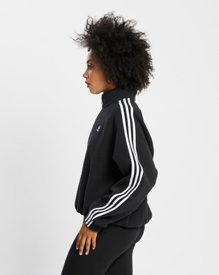 adidas Originals - Adicolor Classics Polar Fleece Half Zip Sweatshirt Sweats (Black) Half-Zip