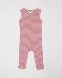 Cotton On Baby - The Sleeveless Long Leg Rib Romper - Babies