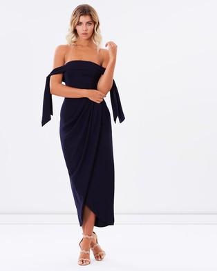Shona Joy – Core Tie Shoulder Bustier Dress – Bridesmaid Dresses (Navy)