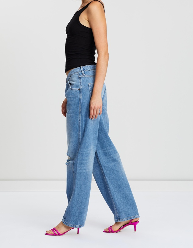 ONETEASPOON - Smiths Low-Waist Wide-Leg Denim Jeans