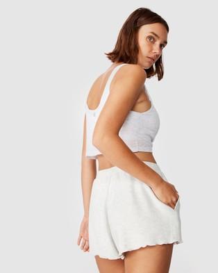 Cotton On Body Super Soft Relaxed Shorts - Sleepwear (Soft Grey Marle)