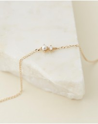 By Charlotte - 14k Gold Light of the Moon Bracelet