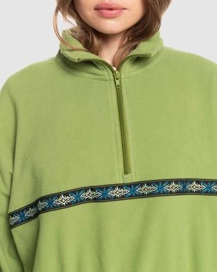 Quiksilver Womens Tribal Polar Half Zip Polar Fleece - Jumpers & Cardigans (CALLISTE GREEN)