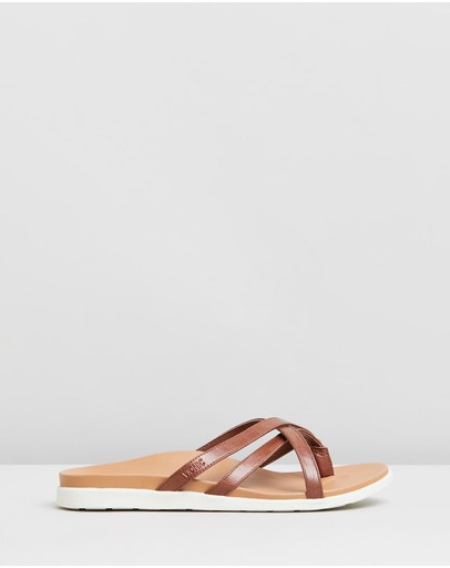 Vionic Daisy Slide Sandals Toffee