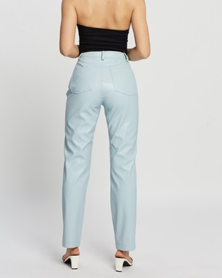 Dazie Look At Her Now PU Pants - Pants (Blue)