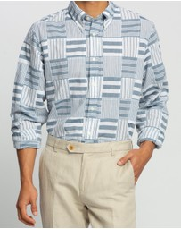 BROOKS BROTHERS - Regent Fit Patchwork Madras Sport Shirt