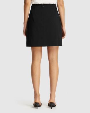 FRIEND of AUDREY Poppy Resin Buttoned Mini Skirt - Skirts (Black)