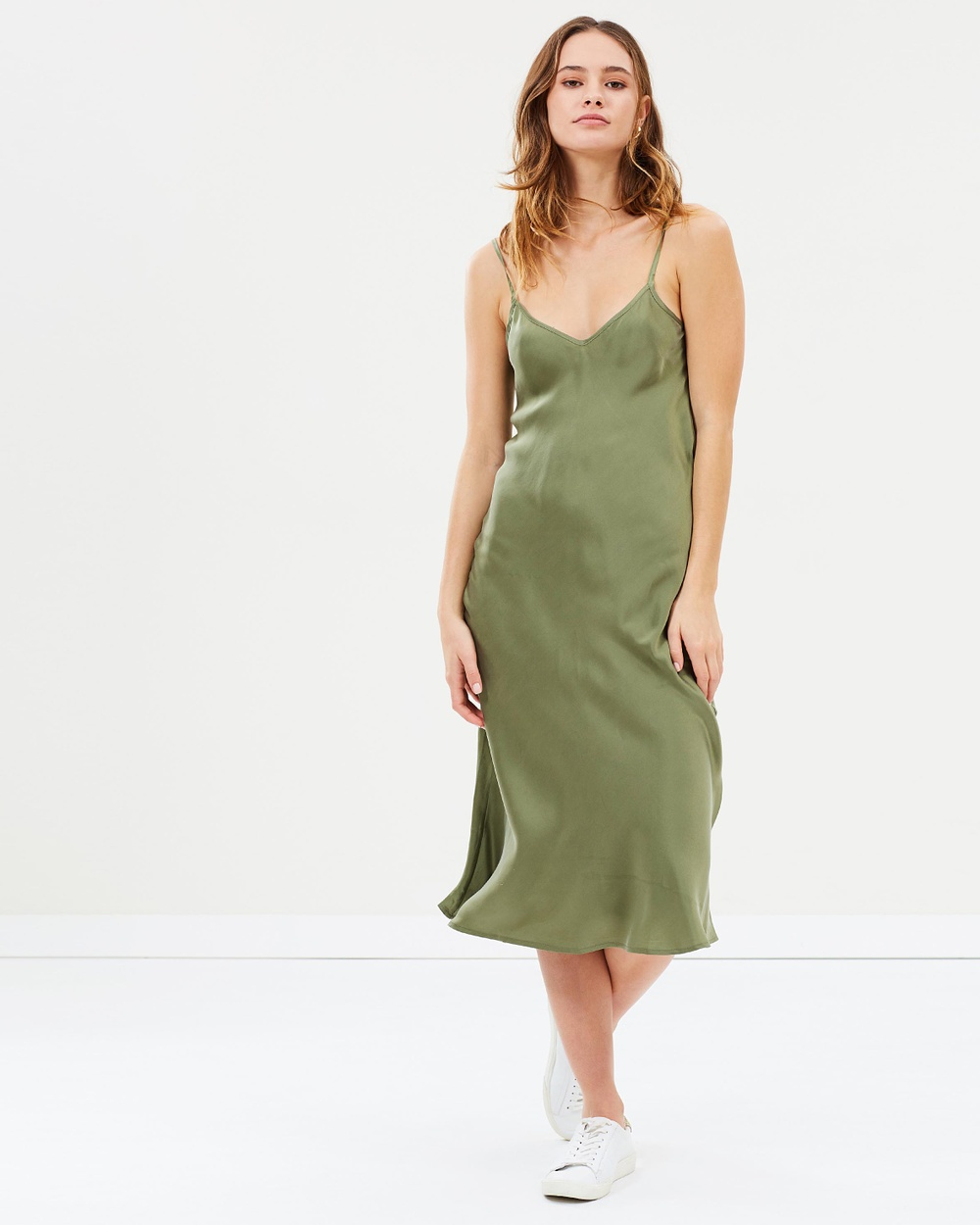 Silk Laundry 90s Silk Slip Dress Dresses Khaki 90s Silk Slip Dress