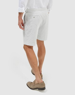 SABA Antonio Seersucker Shorts - Chino Shorts (pattern)