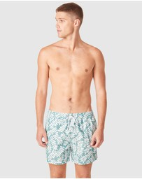 French Connection - Leaf Board Shorts