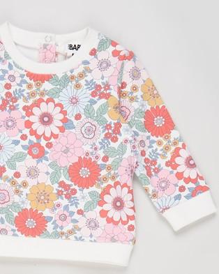 Cotton On Baby Bobbi Peta Tracksuit Babies Sweats Vanilla, Cali Pink & Retro Floral