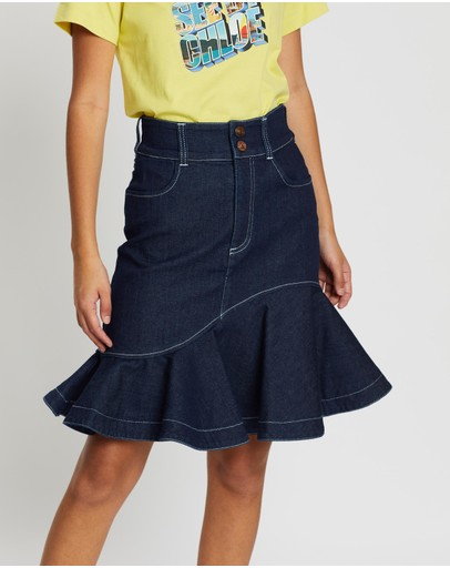 See By Chloé - Flared Denim Skirt