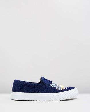 Kenzo K Skate Tiger Slip On Sneakers - Slip-On Sneakers (Midnight Blue)