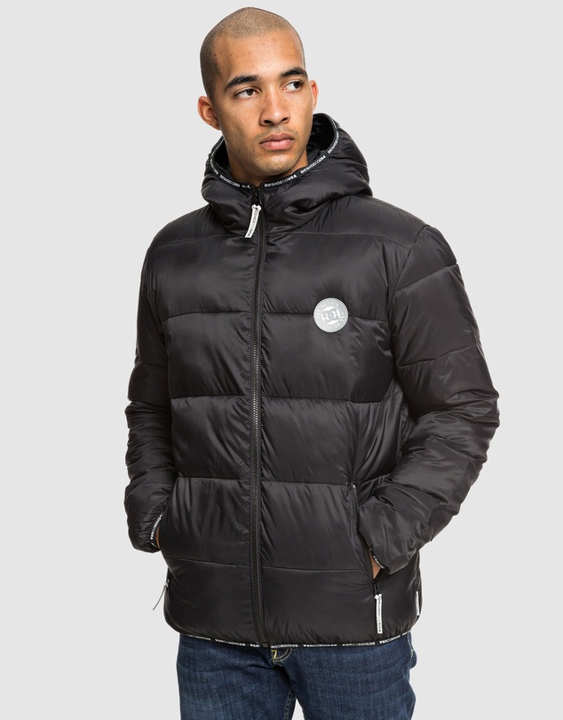 DC Shoes - Mens Crewkerne Water Resistant Hooded Puffer Jacket