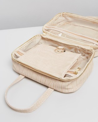 PETA AND JAIN Sutton Cosmetic Holdall - Bags & Tools (Nude Croc)