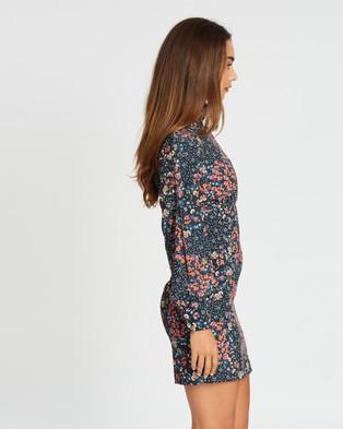 Never Fully Dressed - Bluebell Mini Dress - Printed Dresses (Black Floral) Bluebell Mini Dress