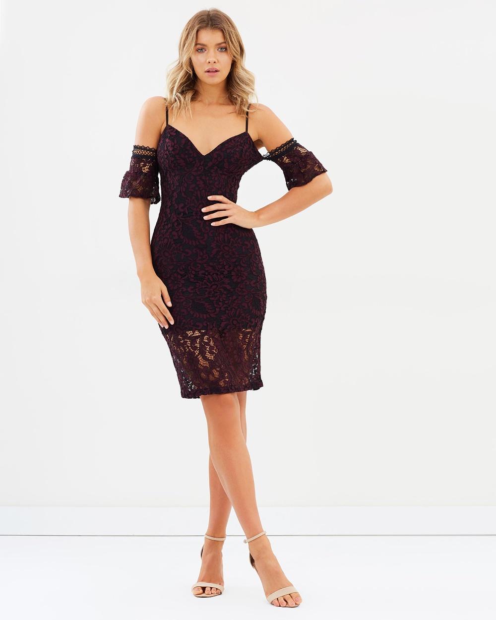 Bardot Taegen Midi Dress Dresses Wine Taegen Midi Dress