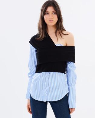Friend of Audrey – Emmalie Two Piece Shirt Blue & Black