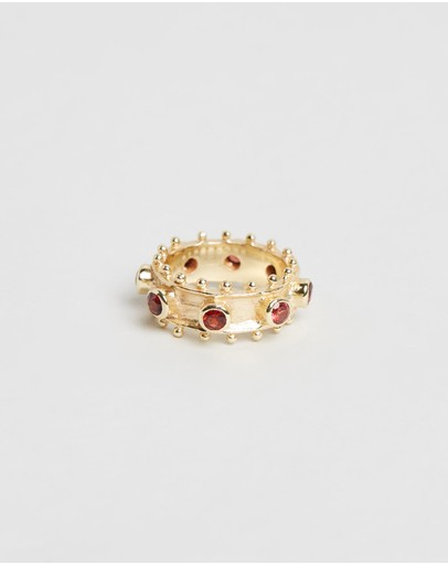 Bianc Heidi Ring Sterling Silver & Brass Gold Plated