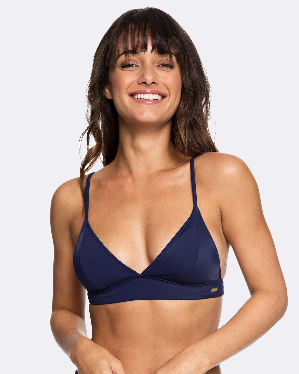 Roxy Womens Beach Basic Fixed Tri Separate Bikini Top Bikini Tops MEDIEVAL BLUE Womens Beach Basic Fixed Tri Separate Bikini Top