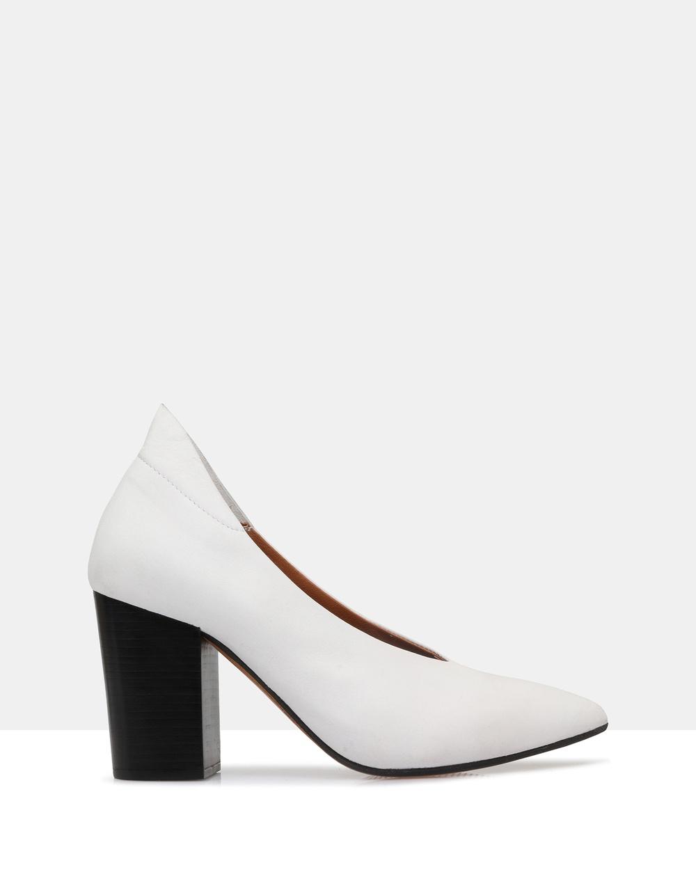 Sempre Di Paulette Heels All Pumps 003 Winter White Paulette Heels