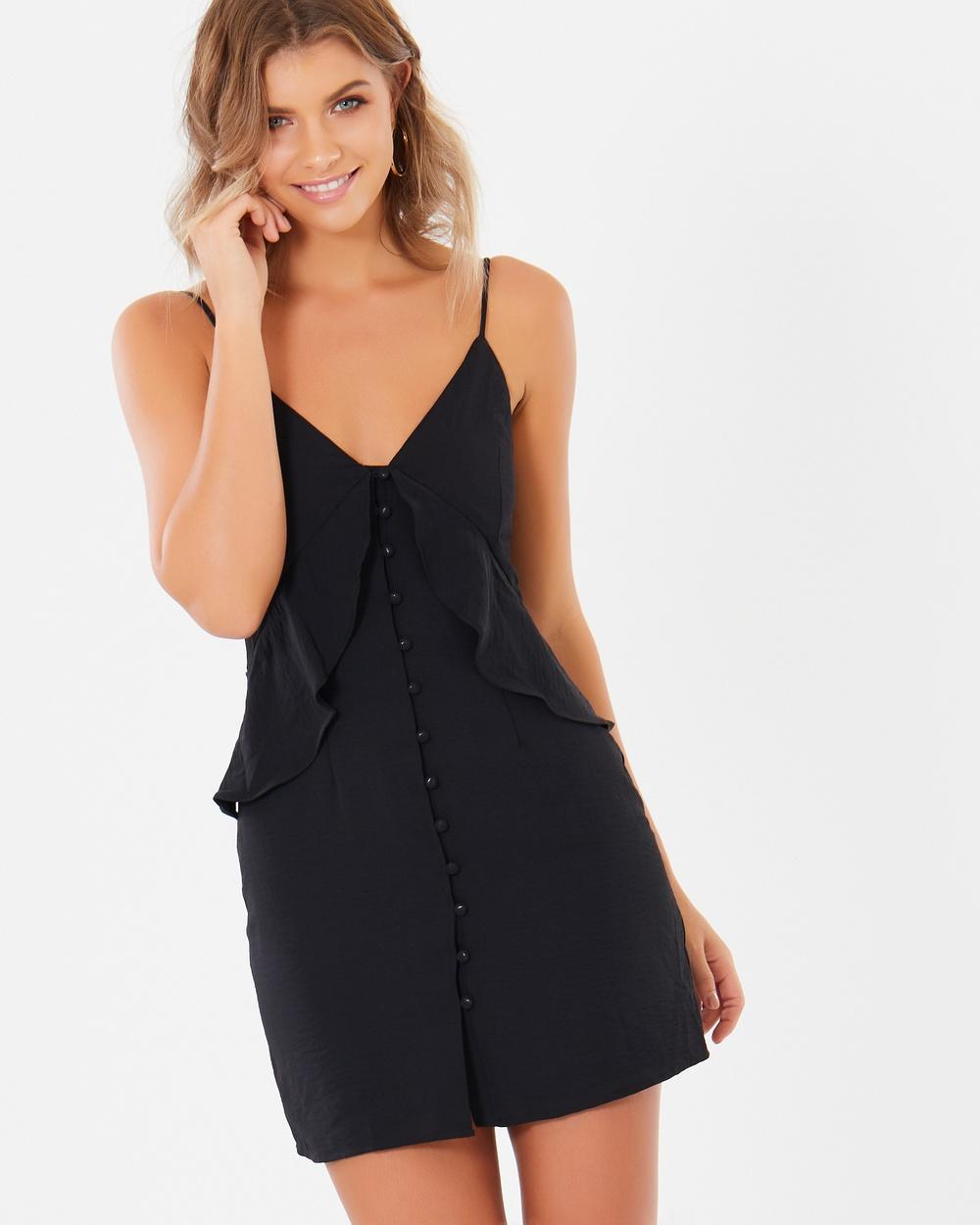 Tussah Carter Button Up Dress Dresses Black Carter Button-Up Dress