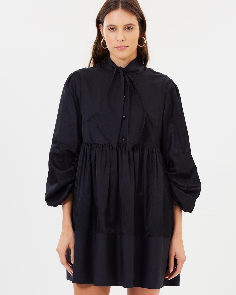 Karen Walker Postcard Tie Dress Dresses Black Postcard Tie Dress