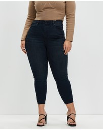 Good American - Good Waist Crop Raw Hem Jeans