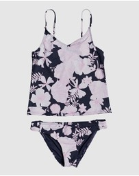 Roxy - Girls 8-14 Wild Flowers Tankini Bikini Set