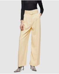 TOPSHOP - Circle Belted Wide Leg Trousers