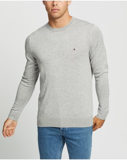 Tommy Hilfiger - Core Cotton-Silk Crew Neck Knit