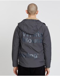 White Mountaineering - Logo Printed Hooded Parka