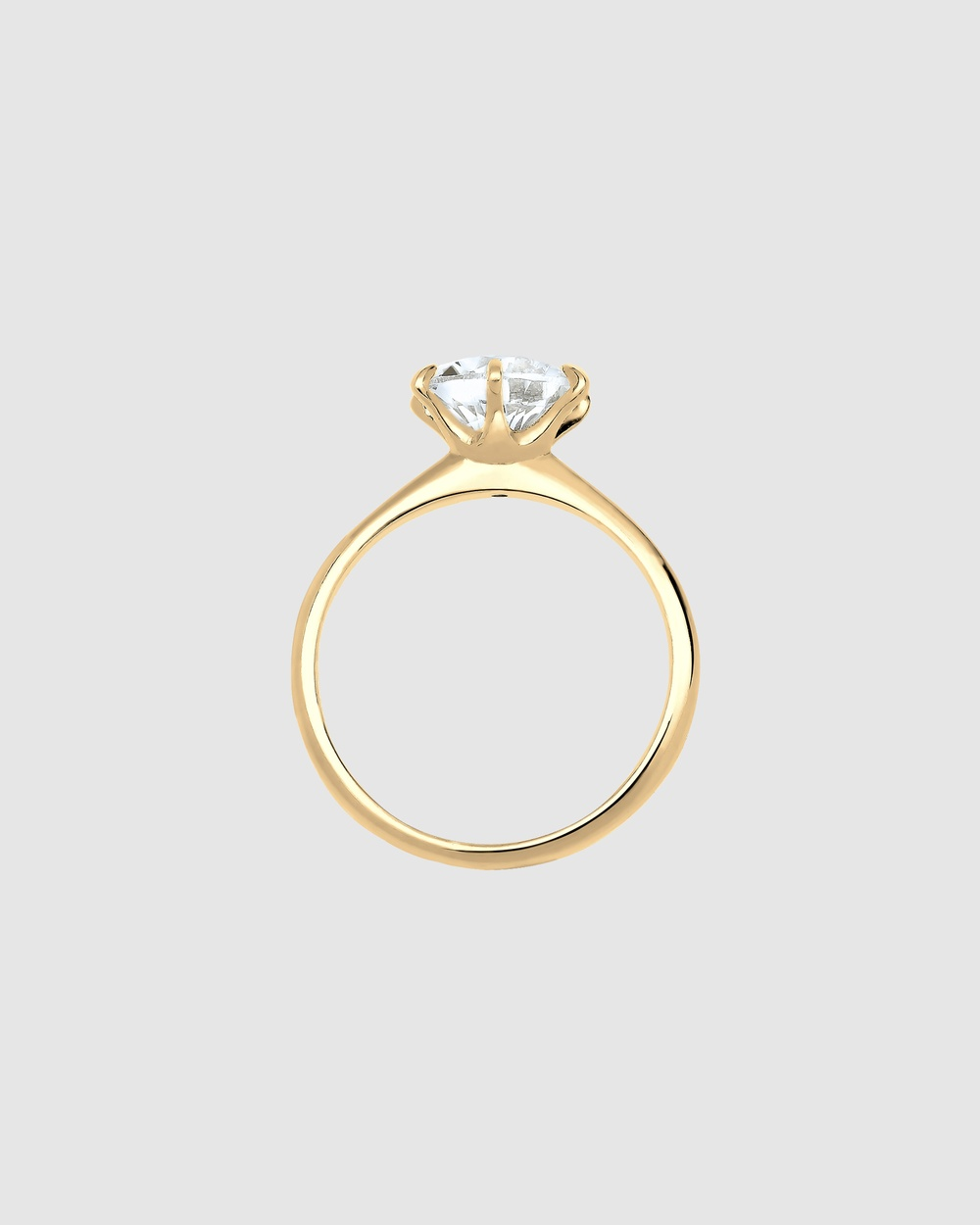 Elli Jewelry Ring 925 Sterling Silver Gold Plated Crystal Jewellery Gold