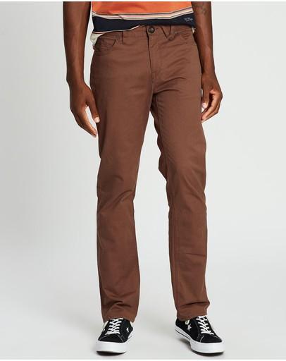 Volcom Solver Modern Fit Twill Pants Vintage Brown