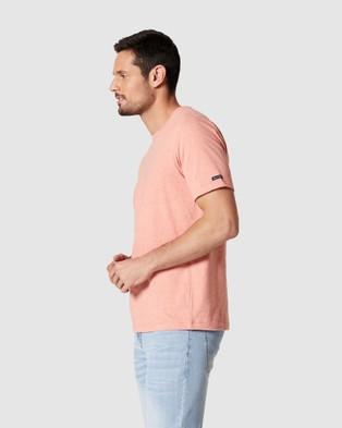 Blazer - Denver Melange Classic Tee Short Sleeve T-Shirts (Coral)