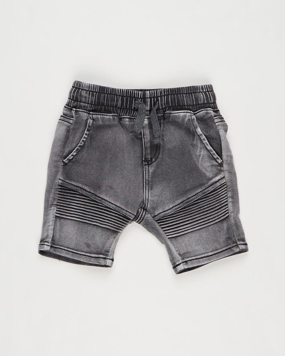 Cotton On Baby Jay Moto Shorts Babies Denim Black Wash Australia