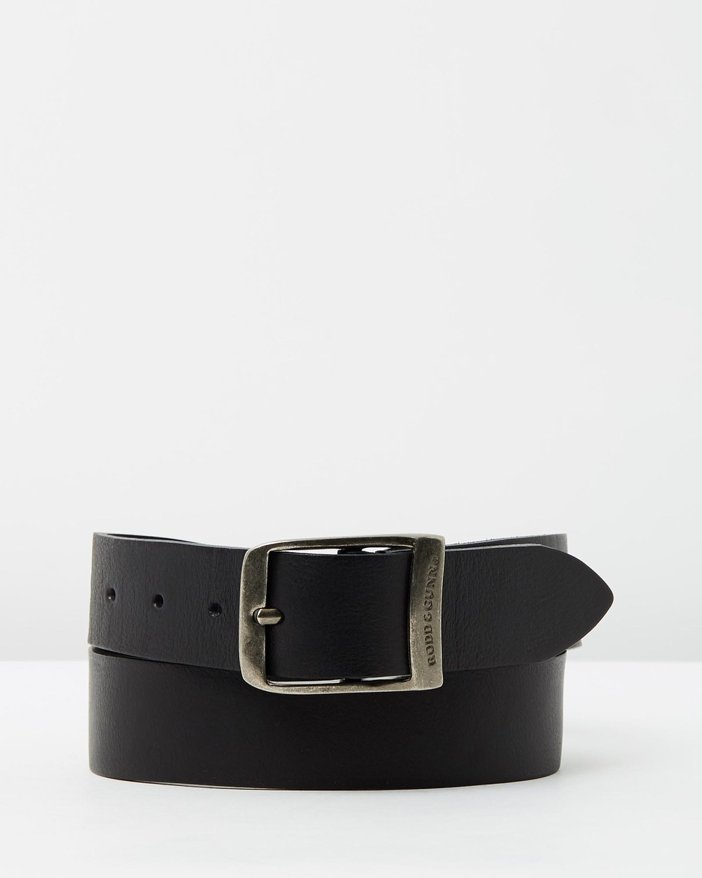 Rodd & Gunn Coronet Crescent Belt Belts Nero