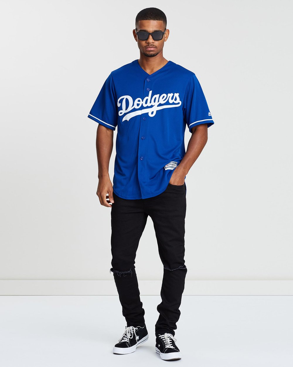 87fd387ac0c9d Los Angeles Dodgers Alternate Jersey by Majestic Online | THE ICONIC |  Australia