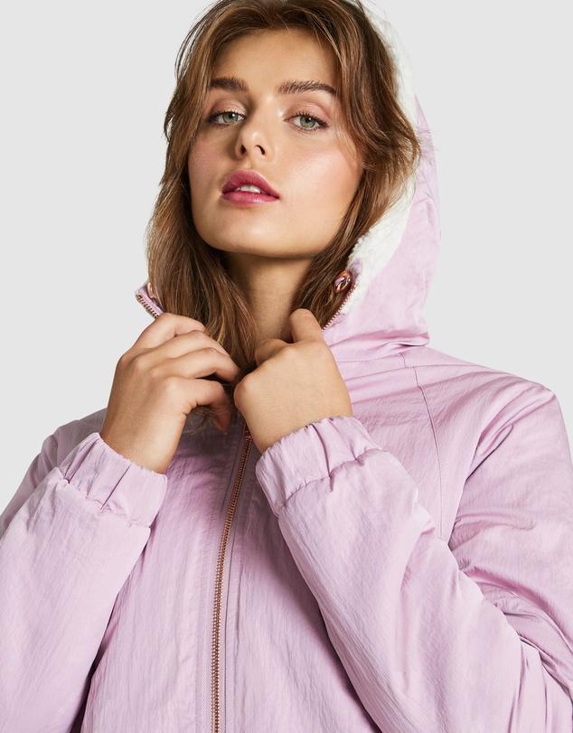 Women Reversible Sherpa Jacket