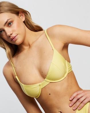 TWIIN Kasumi Underwire Bralette - Bikini Tops (Lemon)