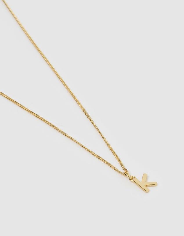 Women Alphabet Letter K Necklace