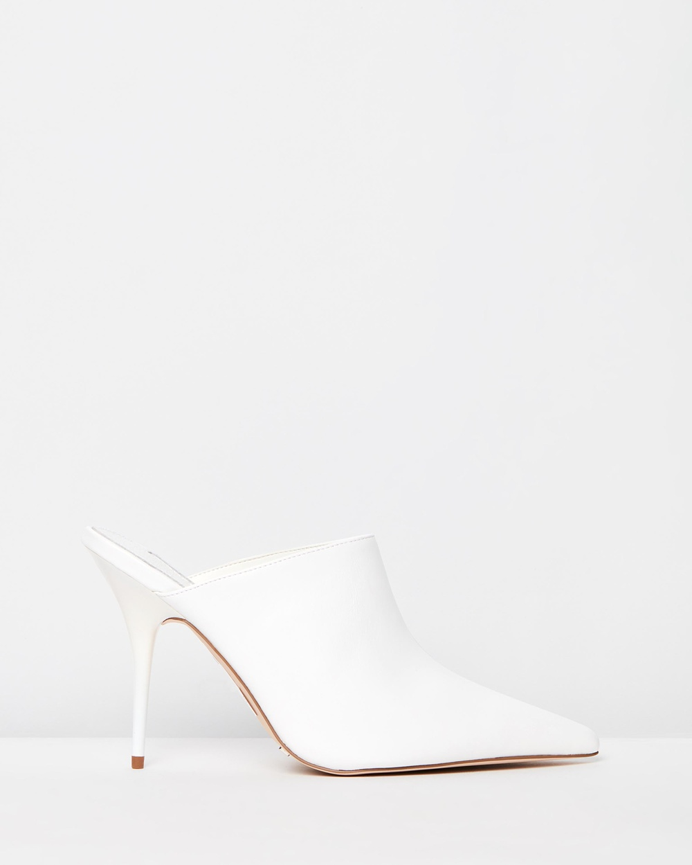 TOPSHOP Godiva Long Point Mules Heels White Godiva Long Point Mules