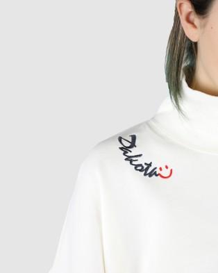 Dakota501 Smiley Logo Jumper - Jumpers & Cardigans (White)