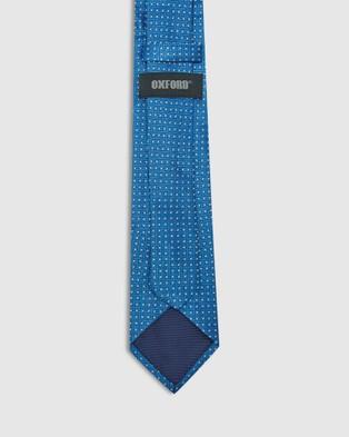 Oxford Silk Diamond Tie - Ties (Blue)