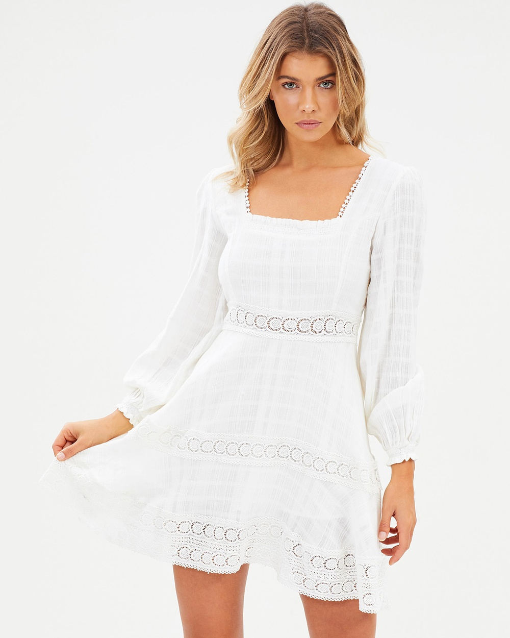 Steele Chlo Detail Dress Dresses Creme Chlo Detail Dress
