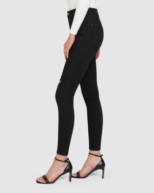 Forever New Alexa Cowl Neck Cami - Jeans (Ripped Forever Black)